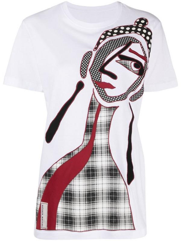 Antonio Marras abstract appliqué t-shirt in white