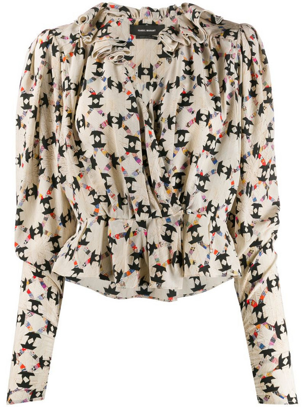 Isabel Marant printed blouse in neutrals