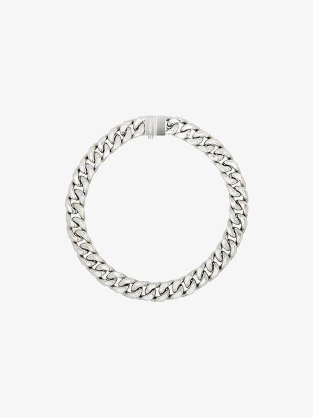 Ambush silver tone curb chain choker