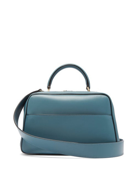 Valextra - Serie S Medium Smooth Leather Shoulder Bag - Womens - Blue