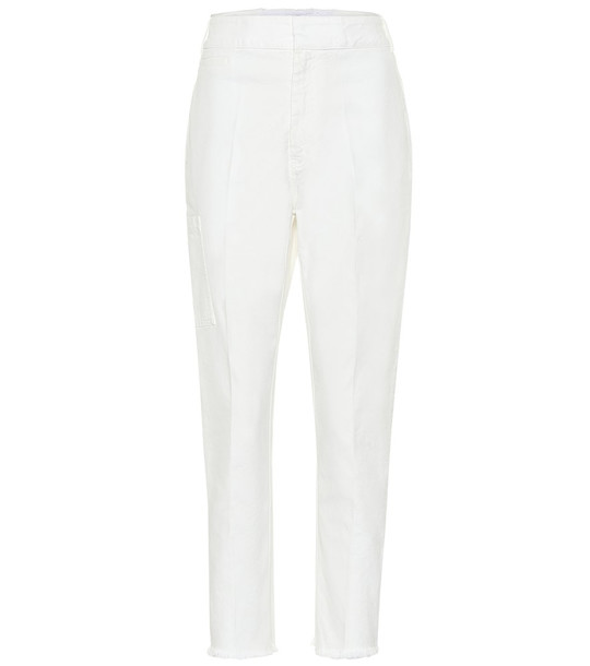 Haider Ackermann High-rise straight jeans in white