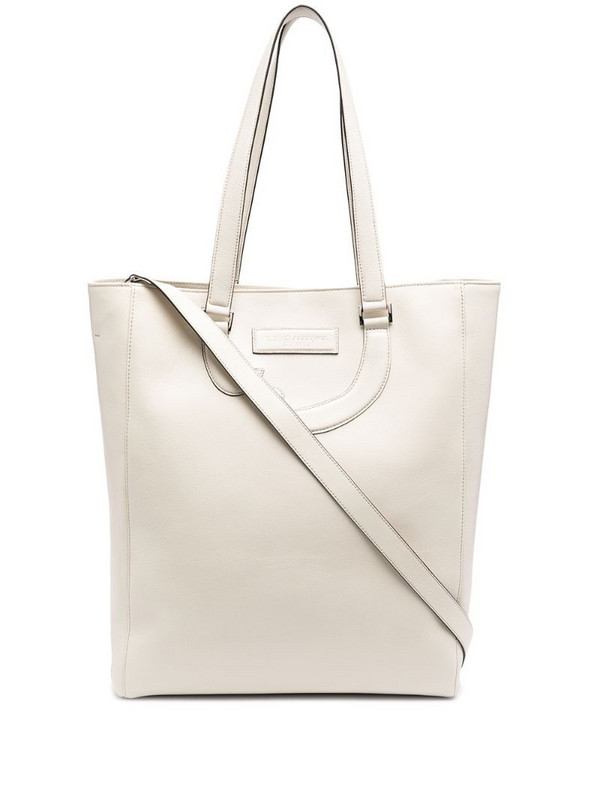 Société Anonyme leather appliqué detail tote bag in neutrals