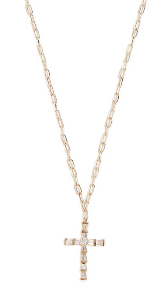 Shay Mini Cross Necklace in gold / yellow