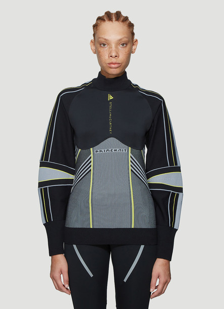 adidas by Stella McCartney Running Mid-Layer Top in Black size S