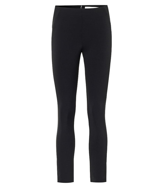 Veronica Beard Suba stretch-crêpe skinny pants in black
