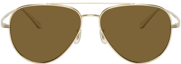 The Row Gold Oliver Peoples Edition Casse Sunglasses
