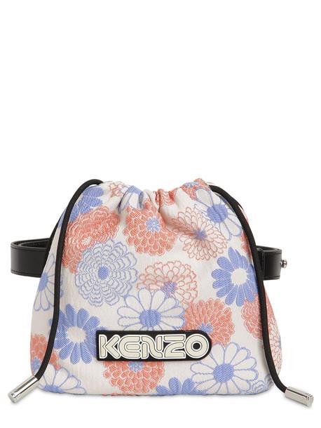KENZO Floral Jacquard Belt Bag in rose