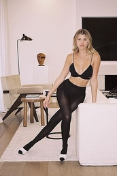 underwear,all black everything,sofia richie,celebrity,instagram,mules