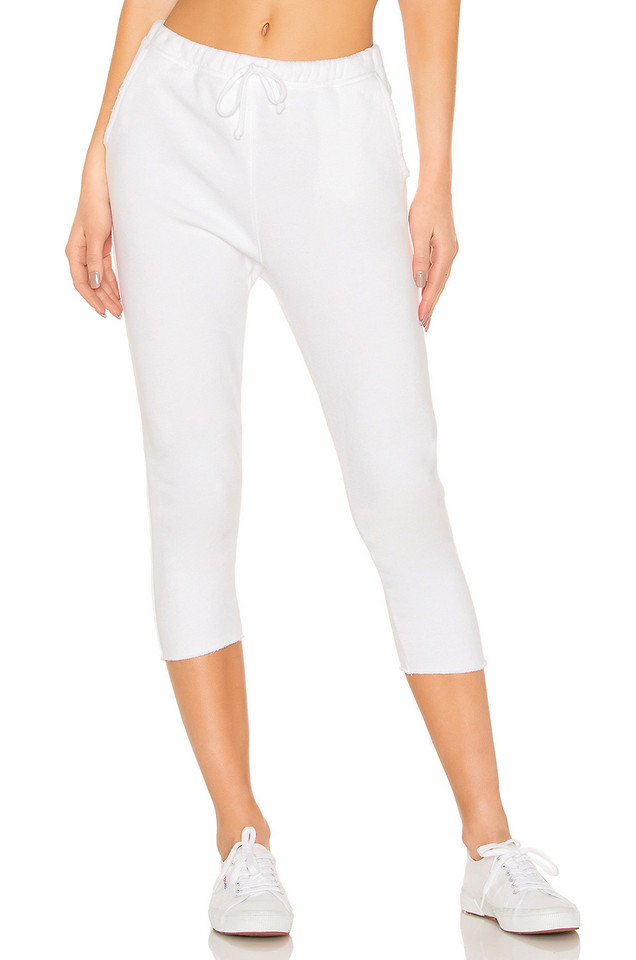 Frank & Eileen Tee Lab Cropped Sweatpant in white