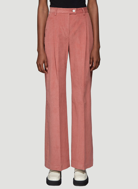 Acne Studios Pina Wide Leg Pants in Pink size FR - 34