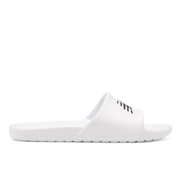 New Balance 100 Men's & Women's Slides Shoes - White/Black (SUF100TW)