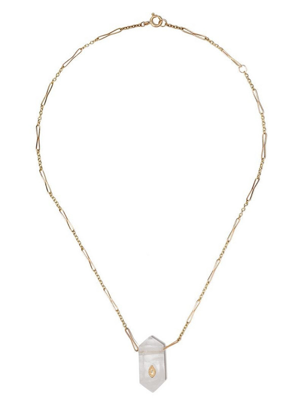 Pascale Monvoisin 9kt yellow gold diamond Prana Nº1 necklace