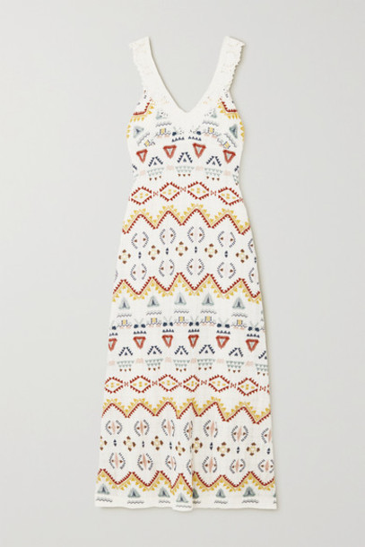 Vanessa Bruno - Nawa Crocheted Lace-trimmed Embroidered Voile Maxi Dress - Ecru