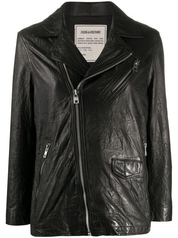 Zadig&Voltaire Laski Cuir blouson biker jacket in black