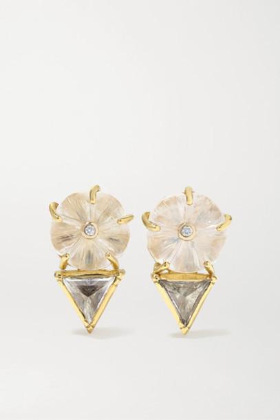 Brooke Gregson - Blossom 18-karat Gold Multi-stone Earrings
