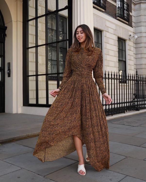 dress maxi dress long sleeve dress sandal heels asymmetrical dress