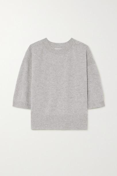 LOULOU STUDIO - Hao Mélange Cashmere Sweater - Gray
