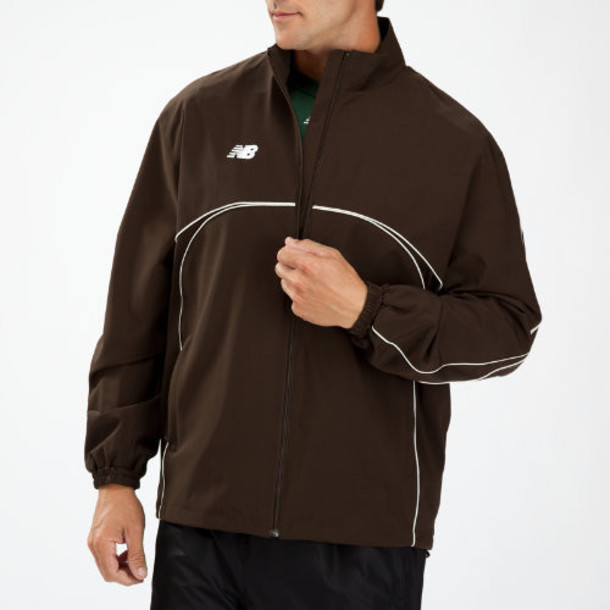 New Balance 9450 Men's Zone Warm Up Jacket - Team Brown (TMUJ9450TMB)