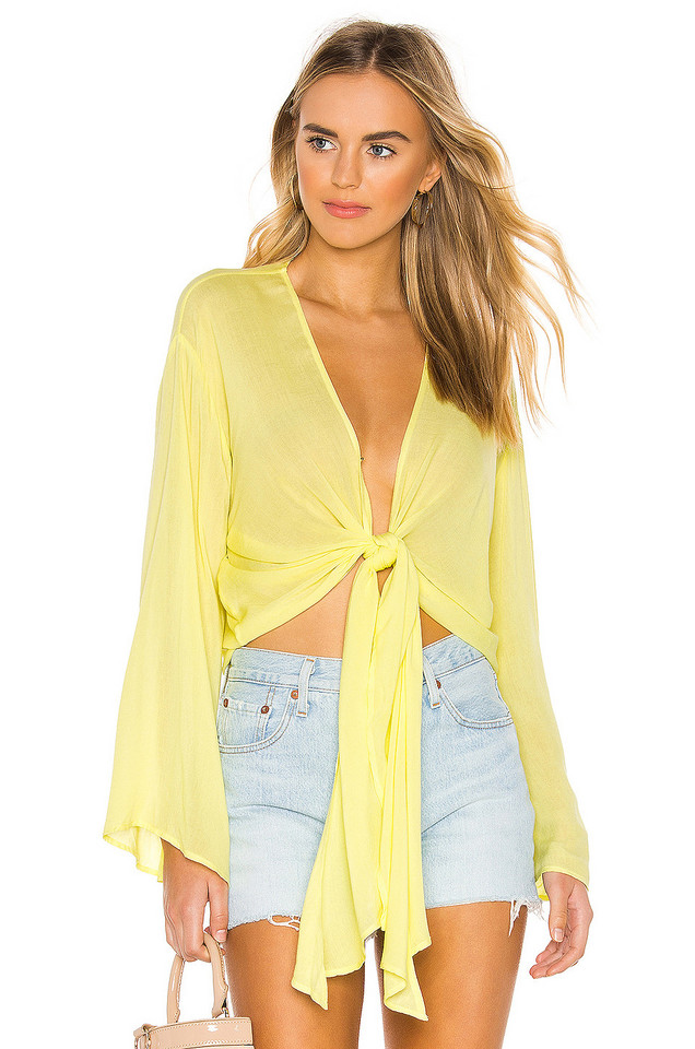 YFB CLOTHING Free Fall Top in yellow