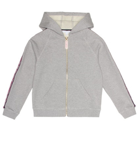 Little Marc Jacobs Cotton hoodie in grey