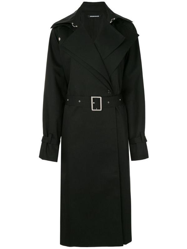 Boyarovskaya belted trench coat in black