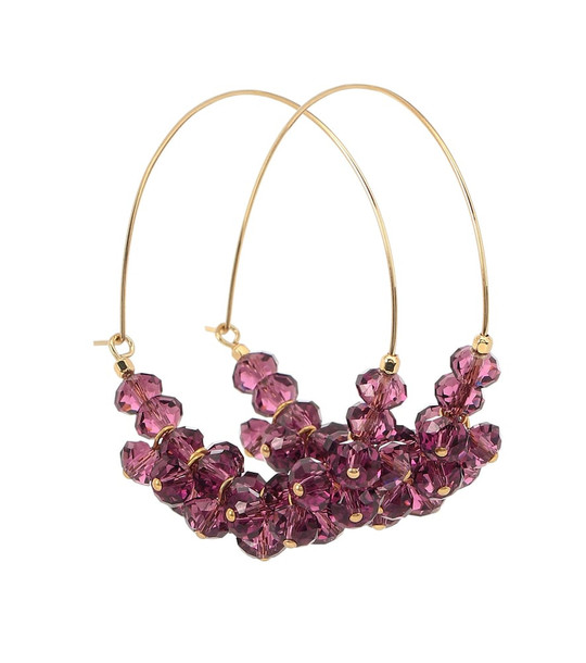 Isabel Marant Polly embellished earrings in purple