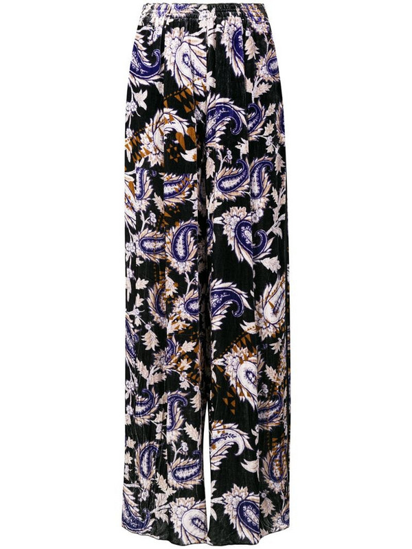 Forte Forte printed palazzo trousers in black