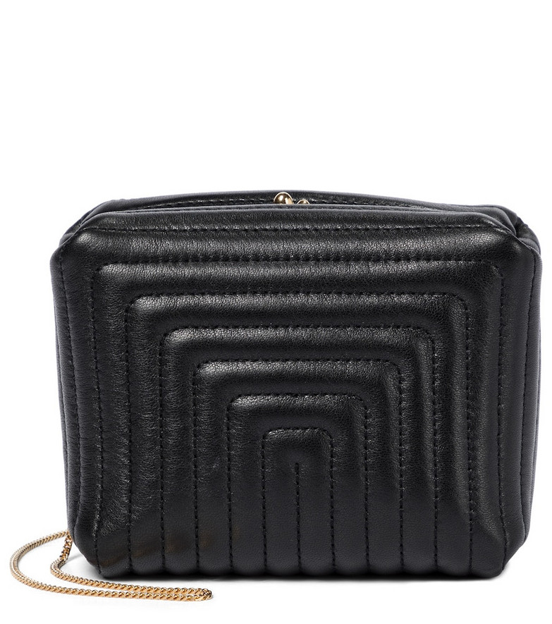 Jil Sander Quilted leather clutch in black