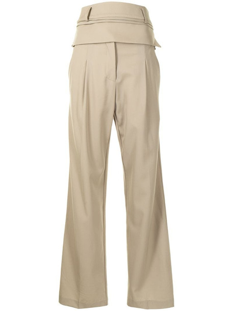 Christopher Esber high-rise tailored trousers in brown