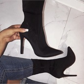 shoes,heels,black,ankle boots,booties