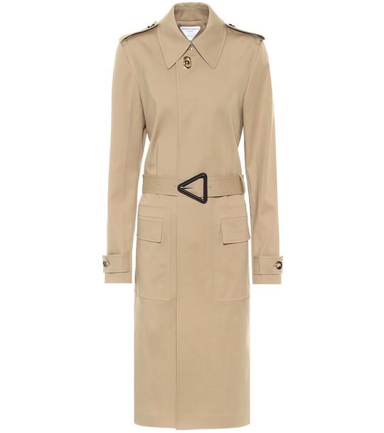 Bottega Veneta Belted cotton trench coat in beige