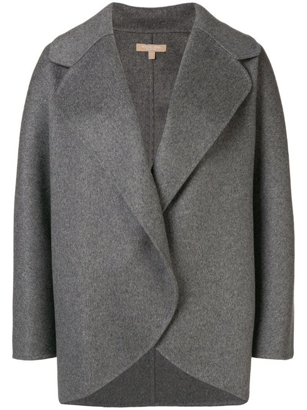 Michael Kors Collection oversized short coat in grey