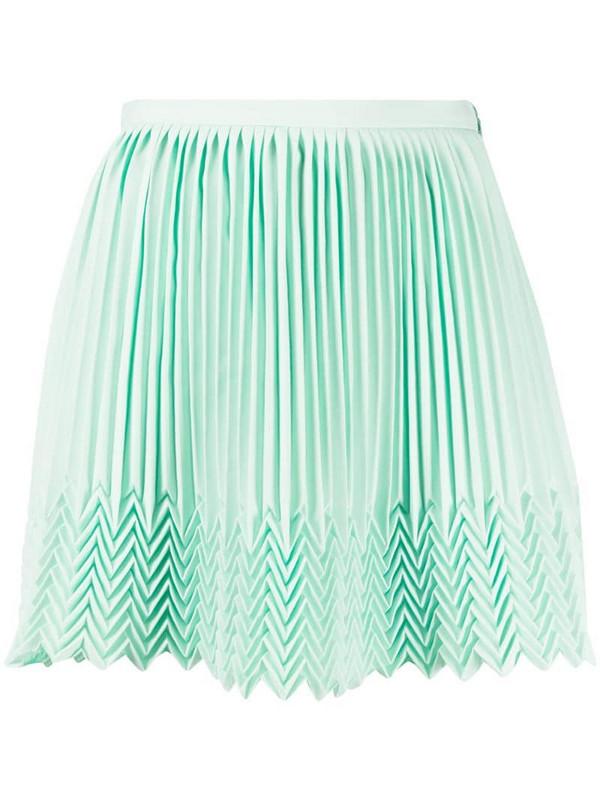 Marco De Vincenzo zigzag hem pleated skirt in green
