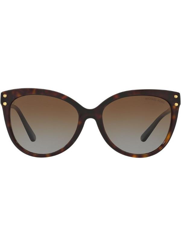 Michael Kors tinted cat eye sunglasses in brown