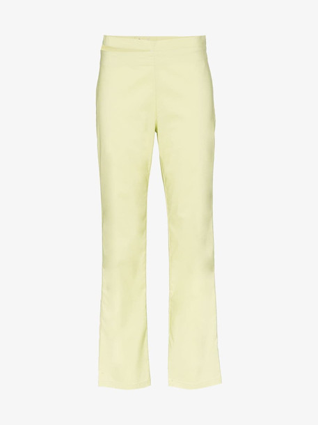 Miaou Maeve cut-out waistband trousers in green