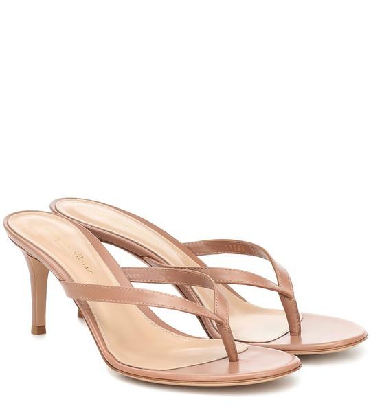 Gianvito Rossi Calypso 70 leather sandals in brown