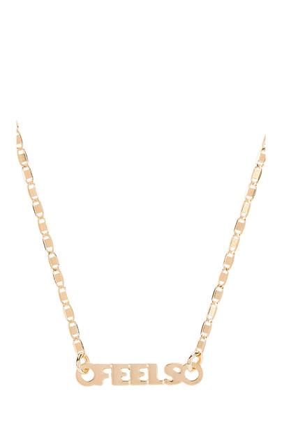 joolz by Martha Calvo Just Sayin Feels Necklace in gold / metallic