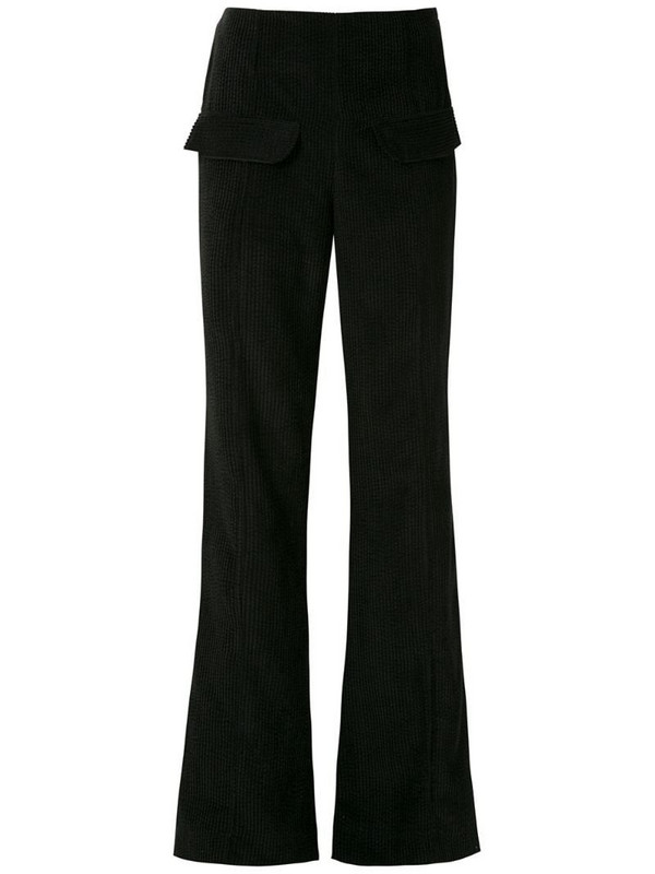 Alcaçuz Rudge flared trousers in black