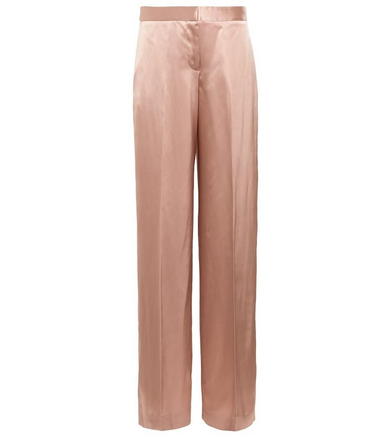 Alexander McQueen High-rise wide-leg pants in pink