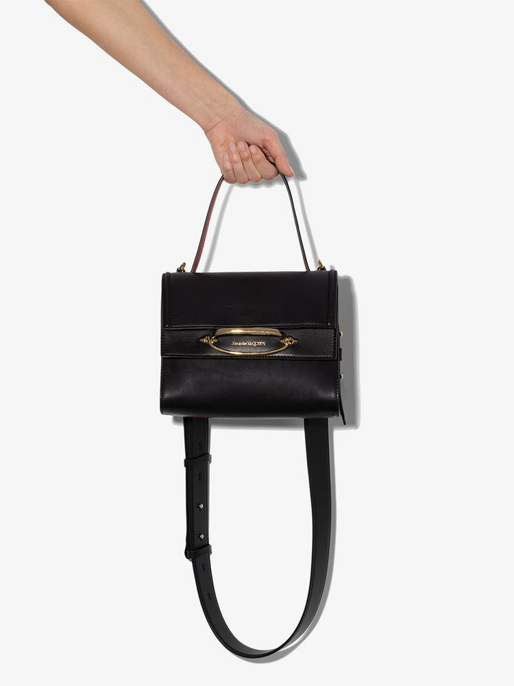 Alexander McQueen two-tone The Story tote in black