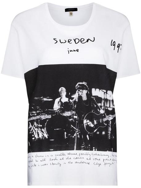 R13 x U2 Sweden Boy crew-neck T-shirt in white