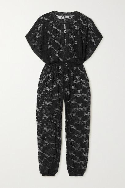 NORMA KAMALI - Rectangle Jog Lace Jumpsuit - Black