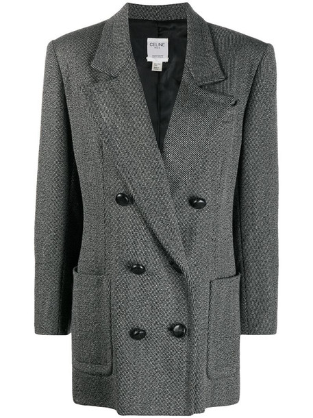 Céline Pre-Owned pre-owned double-breasted coat in grey