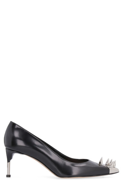 Alexander McQueen Studded Leather Pointy-toe Pumps in black