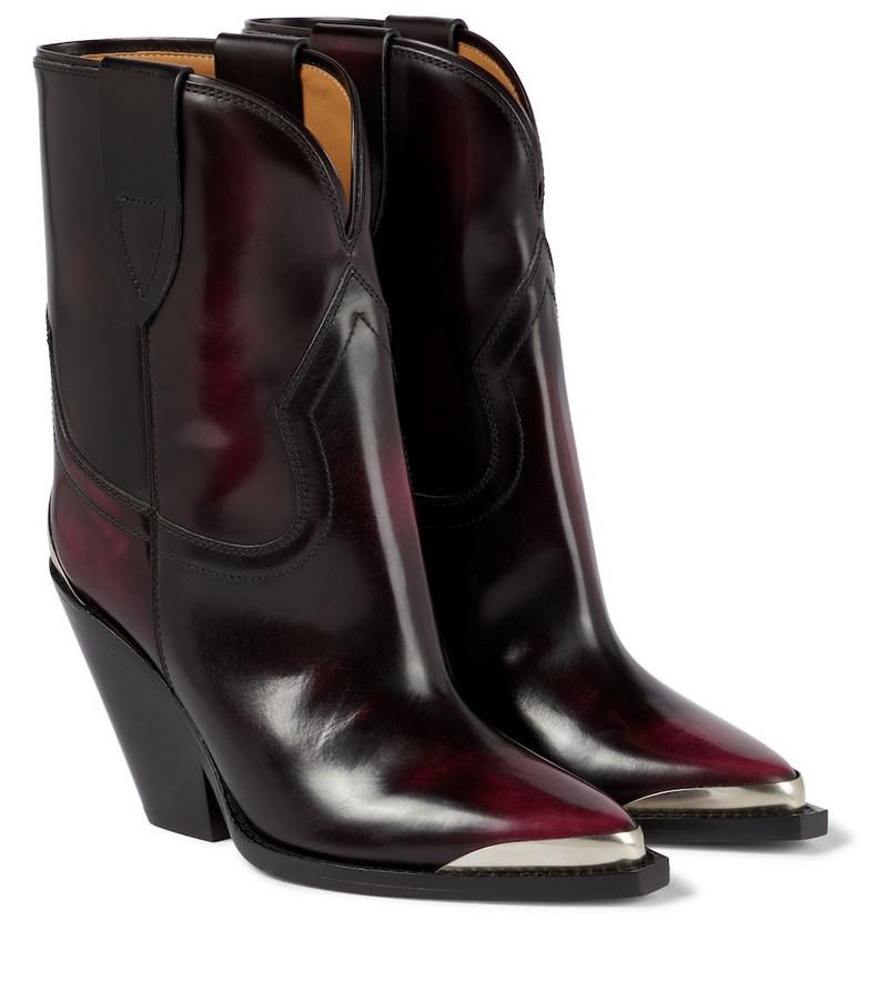 Isabel Marant Leyane leather Western boots in black