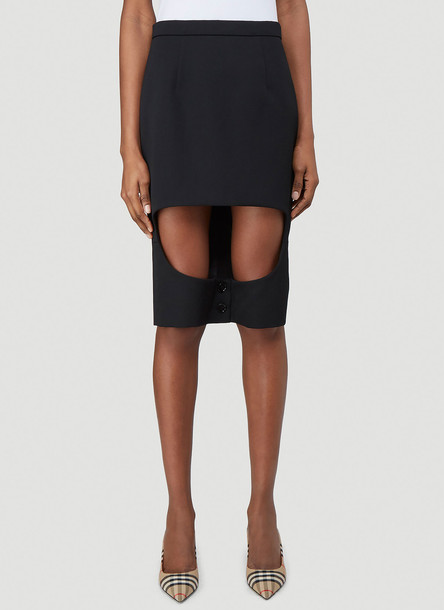 Burberry Step-Through Skirt in Black size UK - 04