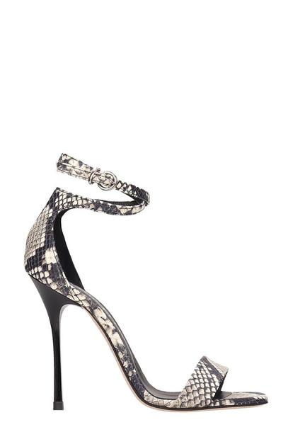 Marc Ellis Grey Leather Sandals