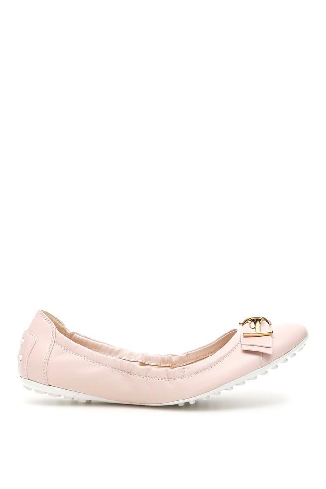 Tod's Dee T Ribbon Ballerinas in pink