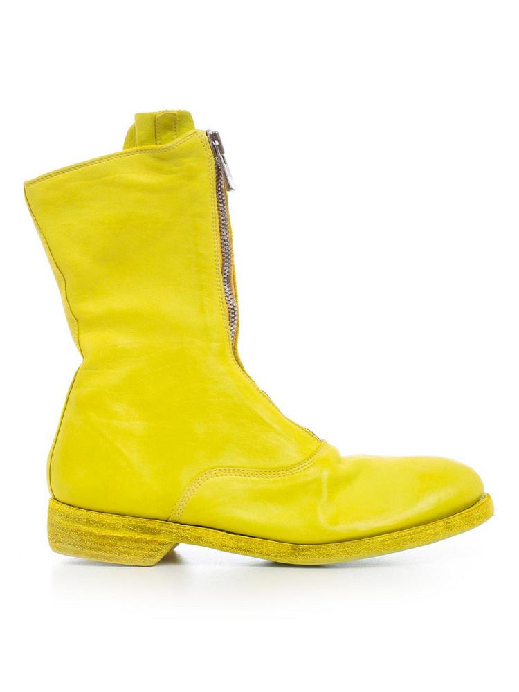 Guidi Zipped Boots in yellow