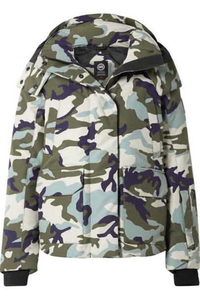 Canada Goose - Blakely Camouflage-print Hooded Shell Down Jacket - Storm blue